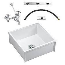 fiat products mop sink kit white 24 in l 24 in w 5nfn0