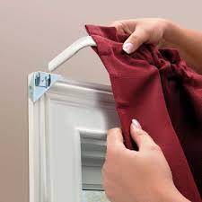 No Drill Curtain Rod Brackets by Instant Curtain Rod Bracket Sets Improvements Catalog