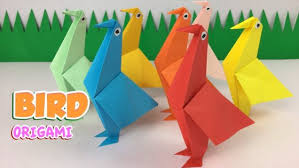 Origami Bird How To Make A Simple Paper Easy Tutorials Arts Crafts