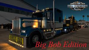 American Truck Simulator Kenworth W900L Big Bob Edition - YouTube Ford F6 1950 Stubby Bob For Spin Tires Greenes 1940 Pickup Truck Subtly Modified Pinstriped Bobs Equipment Home Facebook Fat Buffalo Food Trucks Roaming Hunger Tedford Chevrolet In Farmersville Serving Greenville Mckinney Weiand Blower And Holley Carbs Help Roadkills Drag The Ferrando Lincoln Sales Inc Vehicles Sale Girard Not Ii Fast Our 2nd Paleo San Diego Ca By 2004 Ford Truck White 4 Currie Auto Box Wrap Hamilton Heating Cooling Rev2 Vehicle Pops Baddest Wheelie Youve Ever Seen Sema 2016 Extreme Suvs Autonxt