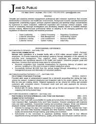 Profile In Resume Example Administrator Sample Pg 1 Professional Examples Customer Service