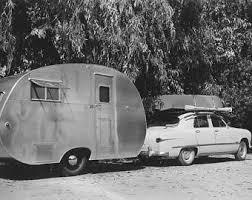 Vintage Travel Trailer Photo Vernacular Photography Original 1940s Snapshot Photograph