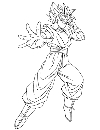 Dragon Ball Gt Goku Ssj Coloring Page