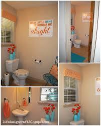 Orange & Turquoise Bathroom - {with Free Print: