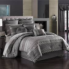 J Queen New York Alicante Curtains by J Queen New York Bedding Bradshaw Black Comforter Set King By J