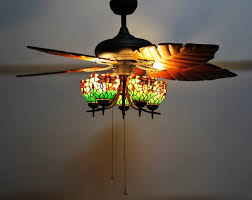 Ceiling Fan Balancing Kit Amazon by Makenier Vintage Tiffany Style Stained Glass 5 Light Dragonfly