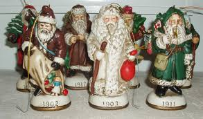 Vintage Christmas Reproductions Inc Santa Claus Tree Ornaments Figurines Collectics Antiques And Collectibles