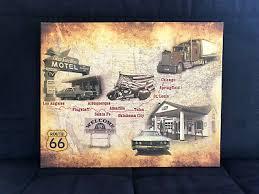 wandbilder route 66 wüste vintage leinwand bilder