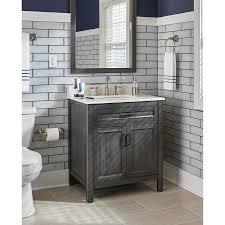 Single Sink Bathroom Vanity by Scott Living Grey Oak Single Sink Bathroom Vanity With Engineered