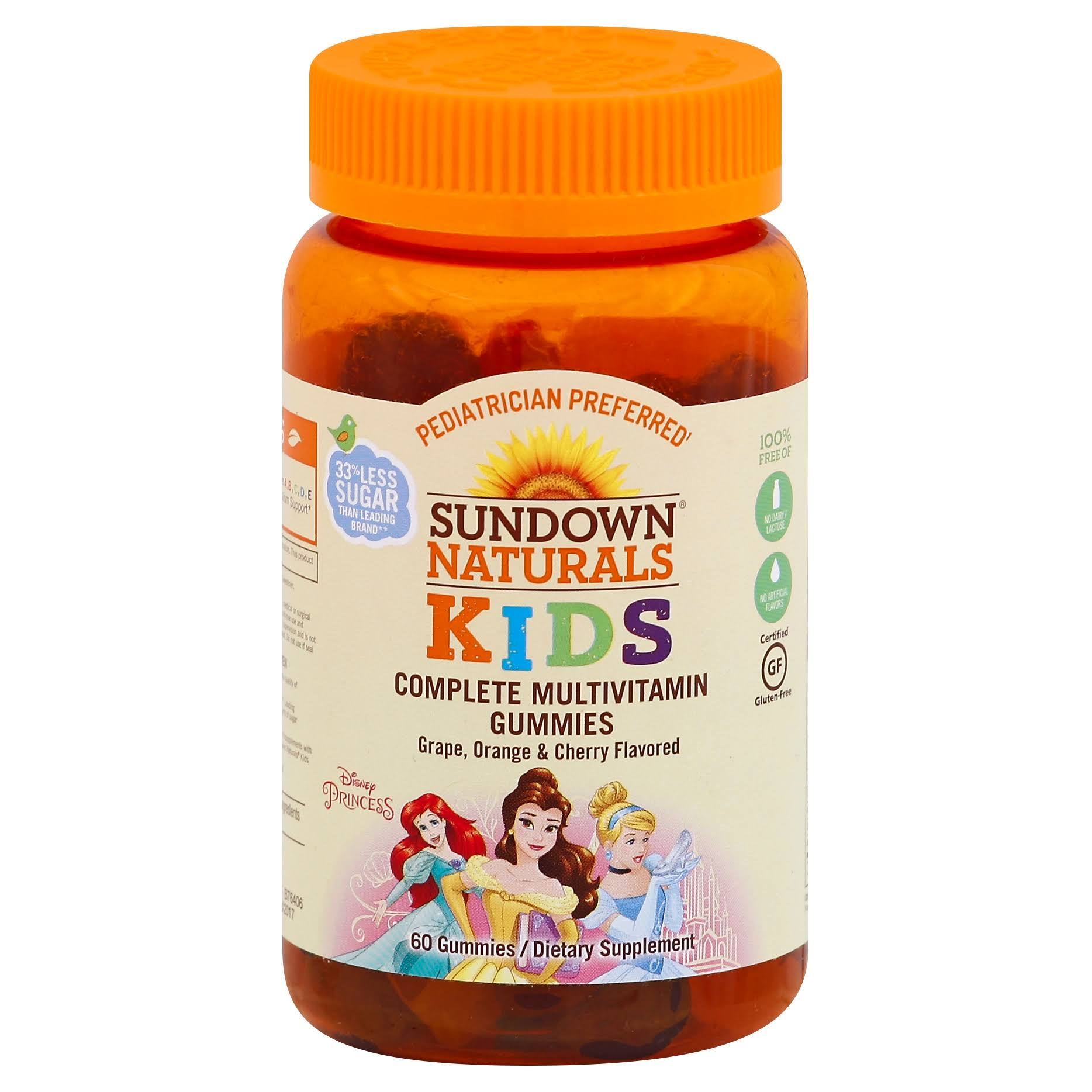 Sundown Naturals Kids Disney Princess Multivitamin Gummies - 60 Count