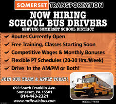 School Bus Drivers, Somerset Transportation, Somerset, PA 2019 Mack An64t Tandem Axle Sleeper For Sale 570227 Skyway Holdings Truck Driving Jobs Cdl Trucking Companies Cdl Bus Drivers Easton Coach New Century Transportation Files For Bankruptcy 1500 Jobs Lost Ddw Facebook Otr Drivers Rands Company Ringtown Pa Class A Job Fair Allentown Lehigh Valley Cpc Stay At Your First More Than A Year Ex Truckers Getting Back Into Need Experience The State Of The Driver American