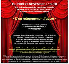 jeudi 29 novembre à 18h00 théâtre d un retournement l autre
