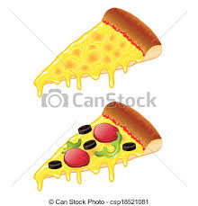 Slices Pizza Vector Illustration