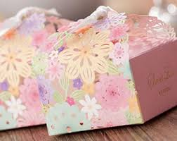 50 Spring Flowers Wedding Favor Gift Boxes DIY Pink Floral Favors Red