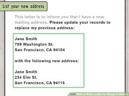 How to Write a Letter for Change of Address with