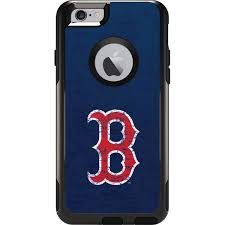 Boston Red Sox Solid Distressed OtterBox muter iPhone 6 Skin