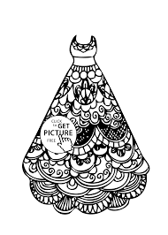 Beautiful Dress Coloring Pages 37 About Remodel For Adults With
