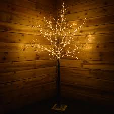 17m Christmas Birch Tree With 600 Warm White LED Lights Decoration