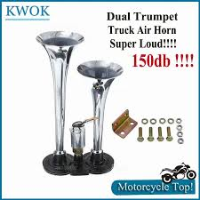 12V Rv 150Db Super Loud Dual Trumpet Air Horn Kit Chrome W/solenoid ... Voluker 4 Trumpet Train Air Horn Kit150db Loud Compressor Amazoncom Iglobalbuy Super 12v Dual 150db Truck Mega Single Kit W Dc 12v Emergency Fire Ftkit Horns Of Texas Mirkoo Twin Tone Chrome Plated Air Horn Kit Diesel Pinterest Trucks Chevy Car Boat 117 Wolo Mfg Corp Air Horns Horn Accsories Comprresors Pcwizecom Truhacks Triple Boss Suspension Shop Kits Model Hk2 Kleinn Mpc M1 Review Best Unbiased Reviews