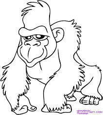 Gorilla Printable Coloring Pages For Preschool