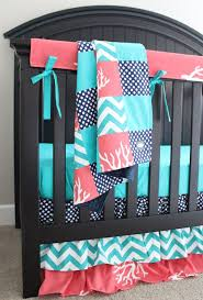 Aqua And Coral Crib Bedding by Best 25 Coral And Turquoise Bedding Ideas On Pinterest