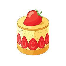 French classic strawberry fraisier dessert Vector illustration vector art illustration