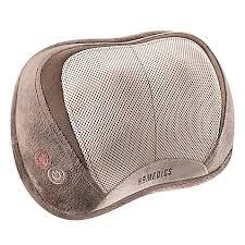 homedics 3 d shiatsu vibration massage pillow with heat bed