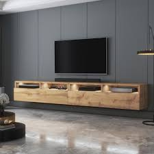 selsey tv schrank rednaw modernes tv board in wotan eiche matt mit led stehend hängend 200 cm breit