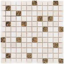 mosaik marmor roma gold 30 cm x 30 cm