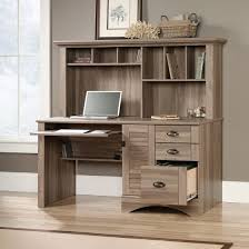 Sauder Office Port Executive Desk Assembly Instructions by Sauder 408294 Office Port Dark Alder Hutch With Glass Doors