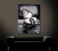 billy vespa leinwand bild scooter roller kunstdruck