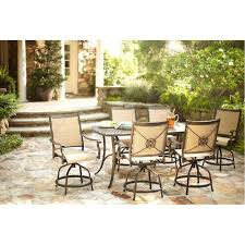Patio Dining Sets Home Depot by Martha Stewart Living Solana Bay 7 Piece Patio High Dining Set Abc