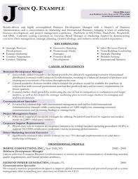 Targeted Resume Samples Business Development
