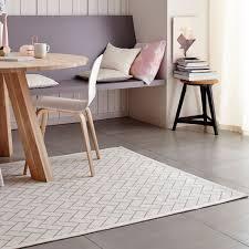tapis coton tisse a plat tapis blanc en coton tissé par tapis chic collection