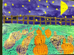 Pumpkin Patches Maryland by Wildcats Create 4th Grade One Point Perspective Pumpkin Patches