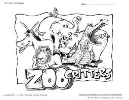 Dazzling Zoo Animals Coloring Pages Image 5