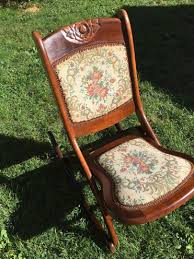 ANTIQUE VINTAGE WOOD FOLDING ROCKING CHAIR ROCKER FLORAL ... Us 3690 Vintage Fniture Modern Wood Rocking Chair For Aged People Japanese Style Recliner Easy With Armrest Pulletout Ftstoolin Garden Antique Vintage Wood Folding Rocking Chair Rocker Floral Antique Folding Antique Appraisal Instappraisal Pair Of Rope Seat Chairs Splendid Comfortable Nursing Wooden Leather Armchair Vintage Wooden Folding Chair Victorian Upholstered Redwood Lawn Scdinavian Tapiovaara