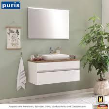 puris zoom badmöbel set mit aufsatzwaschtisch 100 cm
