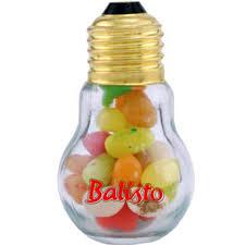 mini light bulb glass jar with hots goimprints
