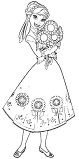 Fever Anna Sunflowers Coloring Page