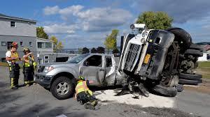 100 Local Dump Truck Jobs Truck Overturns Near Saratoga Lake Times Union