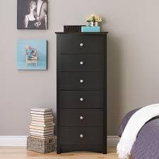 6 Drawer Dresser Cheap by Prepac Black Sonoma Tall 6 Drawer Chest