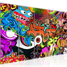 bilder graffiti wandbild 200 x 80 cm vlies