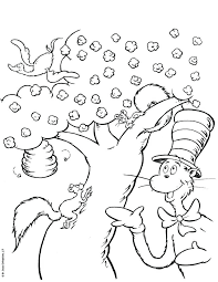 Cat In The Hat Coloring Pages Momjunction Captivating