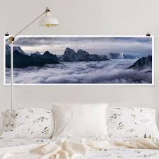 poster wolkenmeer im himalaya panorama querformat