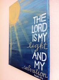 Diy Wall Art The Lord Is My Light And Salvation