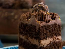 schokoladen nusstorte mit ferrero rocher