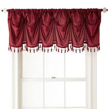 White Kitchen Curtains With Red Trim by Clearance Valances For Window Jcpenney
