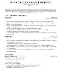 Resumes For Bank Jobs Teller Resume Skills Are Really Great