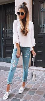 Cute Casual Style Outfit Blouse Rips The Best Of Fashion Trends In 2017